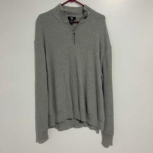 Calvin Klein Zipper Pullover Sweater, Men's sz XXL